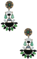 Etro Tribal Earrings in Metallics,Green.