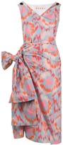 Marni Printed Side Bow Dress