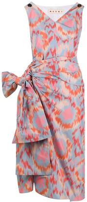 Marni Printed Side Bow Dress