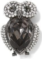 Banana Republic Jeweled Owl Brooch