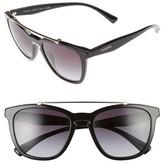 Valentino Garavani Women's Valentino 54Mm Cat Eye Sunglasses - Black Light/ Gold