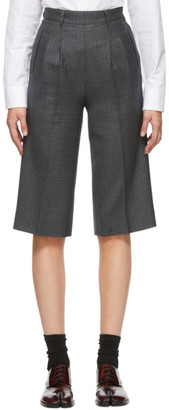 Maison Margiela Blue Wool Houndstooth Shorts
