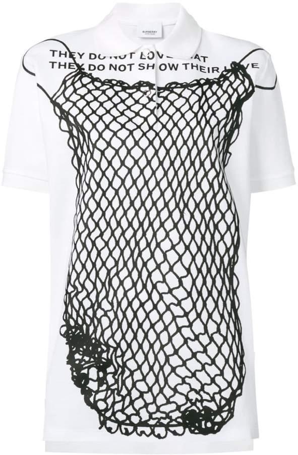 Burberry Montage print polo shirt