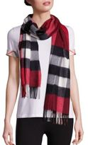 Burberry Heritage Half Mega Check Cashmere Scarf