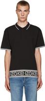 Kenzo Black Logo & Stripes Polo