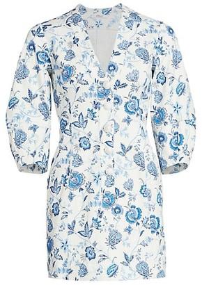Derek Lam 10 Crosby Ottilie Floral Puff-Sleeve Mini Dress