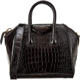 Givenchy Antigona Mini Croc-Embossed Leather Tote