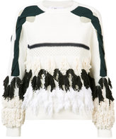 Toga tassel cut out sweatshirt - women - Cotton/Nylon - 36