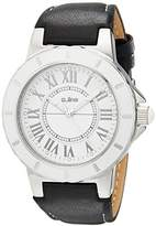 A Line a_line Women's 20007 Marina Dial Black Leather Watch