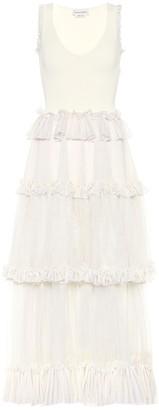 Alexander McQueen Tiered silk gown