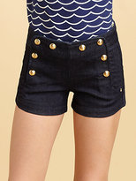 Juicy Couture Girl's Denim Sailor Shorts