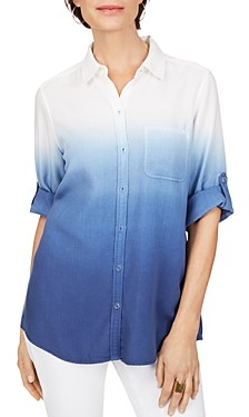 Foxcroft Ombre Button-Up Shirt