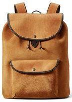 Filson Men's 'Rugged' Suede Backpack - Brown