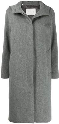 MACKINTOSH CHRYSTON Light Grey Storm System Wool Hooded Coat | LM-1019F