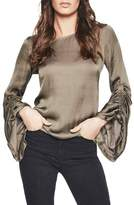 Bardot Women's Lulu Ruched Sleeve Top