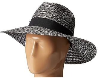 San Diego Hat Company UBL6493 Four Buttons Ultrabraid Fedora Hat (Black/Mix) Fedora Hats
