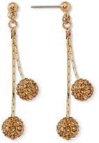 JCPenney MONET JEWELRY Monet Yellow Crystal Linear Drop Earrings