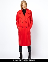Asos Limited Edition Poppy Red Longline Coat