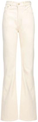 Jacquemus High Waist Cotton Denim Straight Jeans