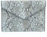 Rebecca Minkoff Leo Snakeskin-Embossed Leather Envelope Clutch