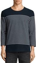 AllSaints Nimlana Three-Quarter Sleeve Stripe Tee