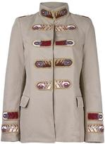 Ermanno Scervino straps patch military jacket