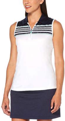 PGA Tour TOUR Womens Collar Neck Sleeveless Polo Shirt