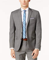 Ryan Seacrest Distinction Men's Gray Sharkskin Modern-Fit Jacket