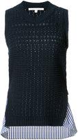 Veronica Beard mermaid shirt trim top - women - Cotton/Linen/Flax - L