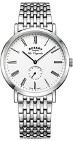 Rotary Gb90190/01 Les Originales Windsor Bracelet Strap Watch, Silver/white