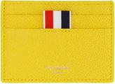 Thom Browne Yellow Single Card Holder