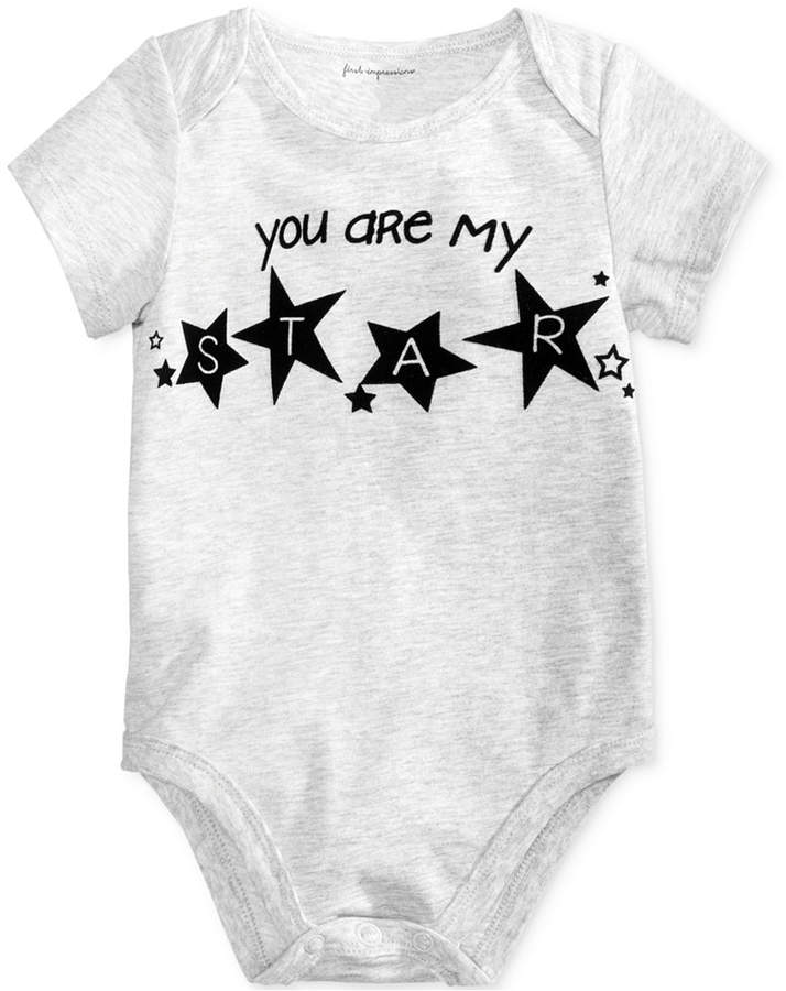 First Impressions My Star Cotton Bodysuit, Baby Boys & Girls (0-24 months), Created for Macy's