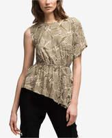 DKNY Printed Asymmetrical Top, Created for Macy's
