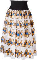 Christopher Kane midi glitter flower skirt - women - Nylon/Polyester - 42