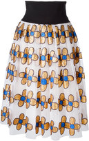 Christopher Kane midi glitter flower skirt - women - Nylon/Polyester - 44