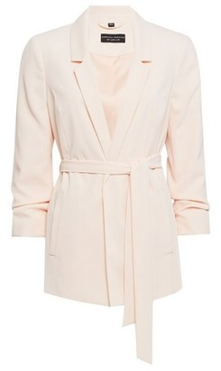 Dorothy Perkins Womens Blush Tie Waist Blazer Jacket