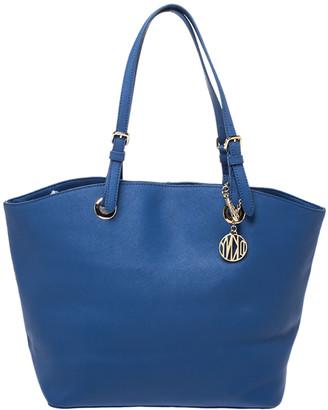DKNY Blue Leather Donna Karan Tote