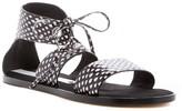 Matt Bernson Cleo Snakeskin-Embossed Sandal