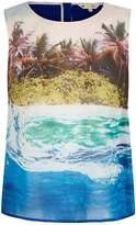 Yumi Underwater Print Sleeveless Top