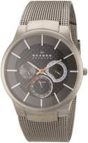 Skagen Men's Carbon Fiber Dial Titanium Watch 809XLTTM