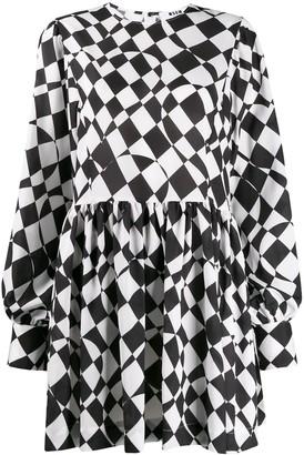 MSGM geometric print short dress