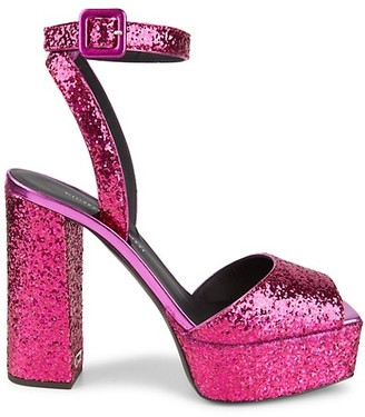 Giuseppe Zanotti New Betty Glitter Platform Sandals