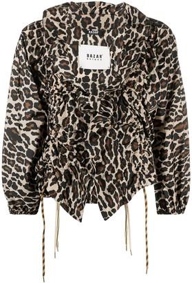Bazar Deluxe Leopard Print Tie-Fastening Blouse