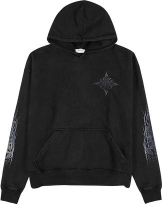 Rhude Neon Flame black cotton sweatshirt