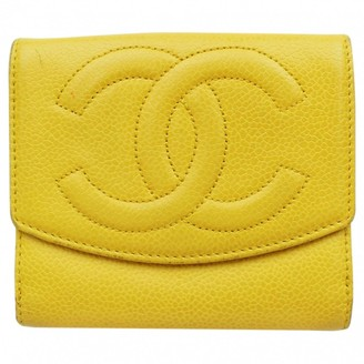 Chanel Yellow Leather Wallets