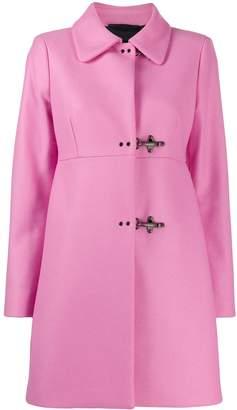 Fay clasp fastened coat