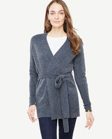 Ann Taylor Ribbed Belted Cardigan