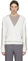 Maison Margiela Off-white and Brown Knit Cardigan