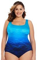 Plus Size Great Lengths High Tide Tummy Slimmer Crisscross One-Piece Swimsuit