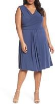 Nic+Zoe Plus Size Women's City Retreat Surplice Fit + Flare Dress